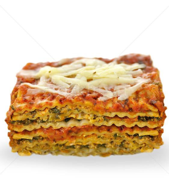 Lasagna verdura alimentare piatto lattuga carne Foto d'archivio © saddako2