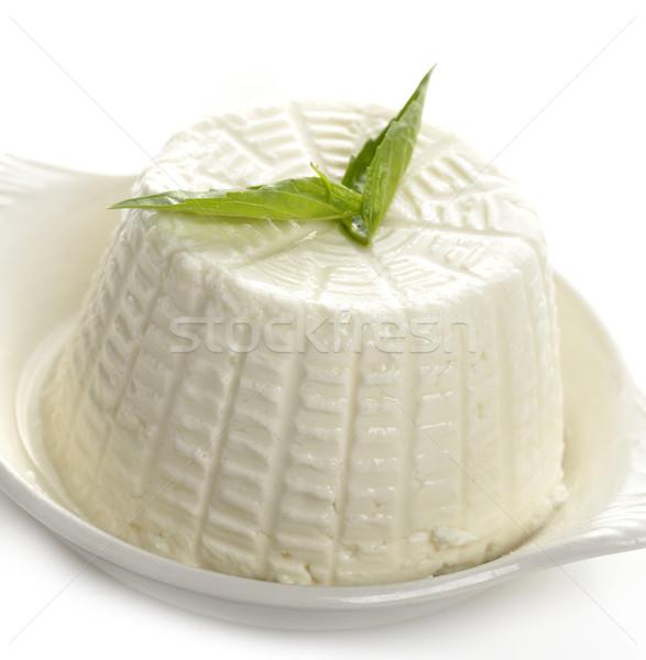 Tofu sajt fehér edény étel levél Stock fotó © saddako2