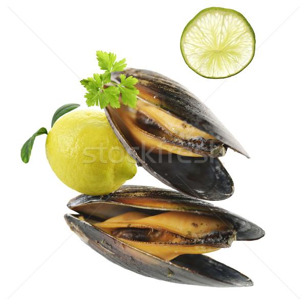 Mussels  With Garlic Sauce Stock photo © saddako2