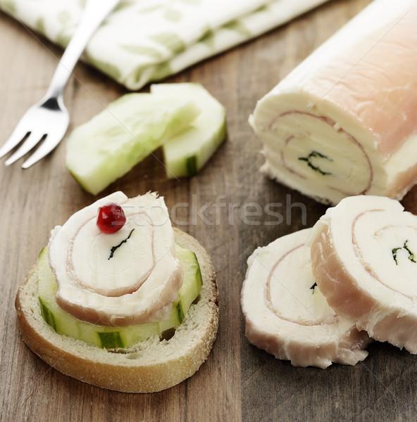 Mozzarella queso aperitivo pepino Foto stock © saddako2