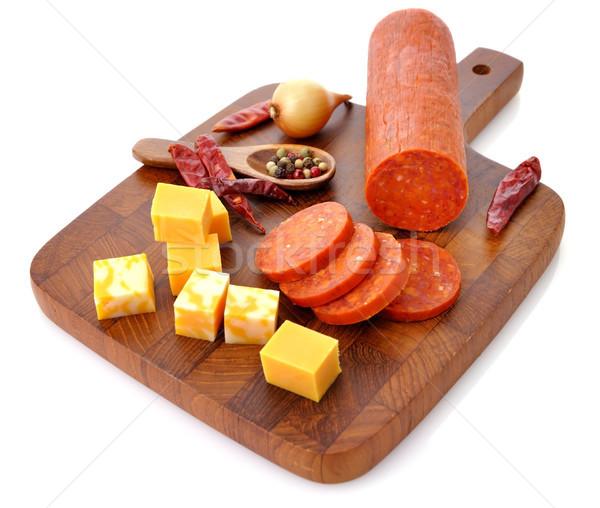 Pepperoni Salami and cheese Stock photo © saddako2
