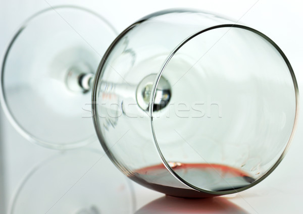 spilled wine glass  Stock photo © saddako2