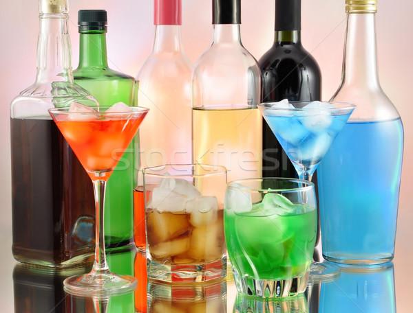 разнообразие напитки вино толпа фон Сток-фото © saddako2