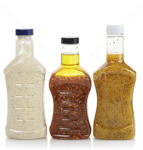 Vinagreta botellas alimentos botella aceite de oliva Foto stock © saddako2