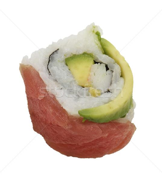 Sushi Roll With Red Fish And Avocado Stock photo © saddako2