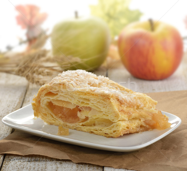 Slice Of An Apple Strudel Stock photo © saddako2