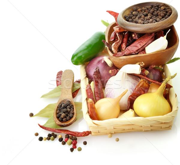 Stockfoto: Specerijen · houten · oranje