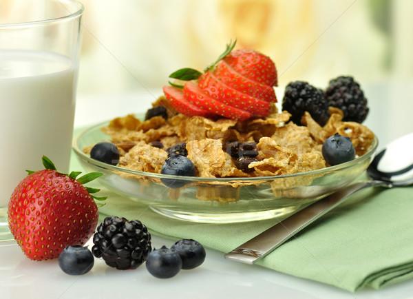 здорового завтрак отруби изюм зерновых фон Сток-фото © saddako2