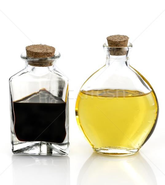 étolaj ecet üveg üvegek étel folyadék Stock fotó © saddako2