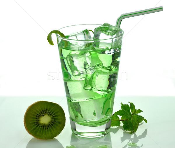 Vetro bevanda fredda estate verde cool succo Foto d'archivio © saddako2