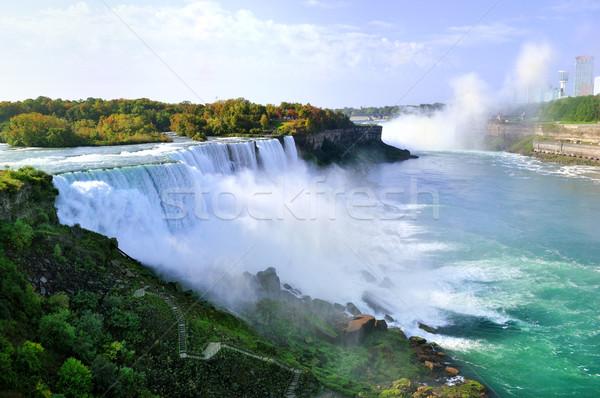 Niagara Falls Blauw reizen waterval rivier park Stockfoto © saddako2