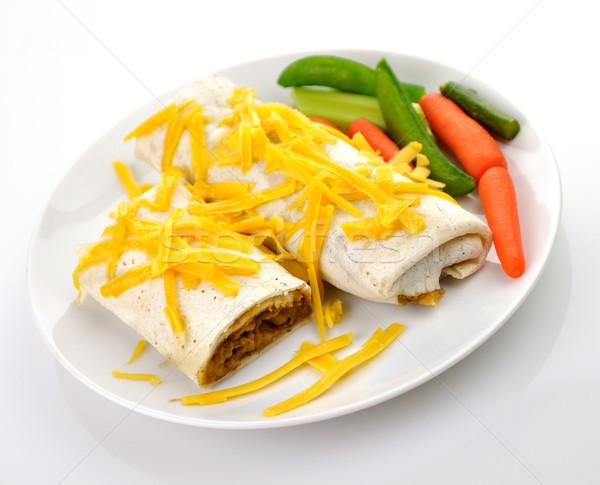 ストックフォト: メキシコ料理 · 地上 · 牛肉 · ディナー · プレート · 肉