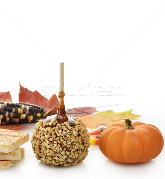 Stok fotoğraf: Halloween · beyaz · gıda · tatil · düşmek