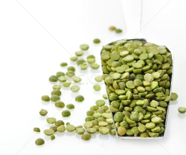 Vert pois sécher cuillère alimentaire Photo stock © saddako2