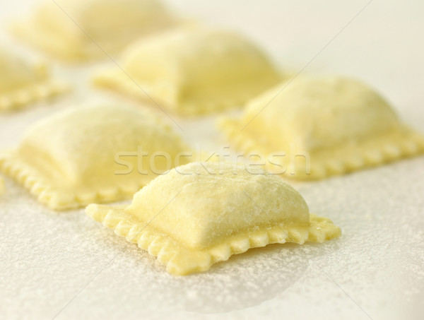 Ravioli dîner pâtes blanche cuisson Photo stock © saddako2