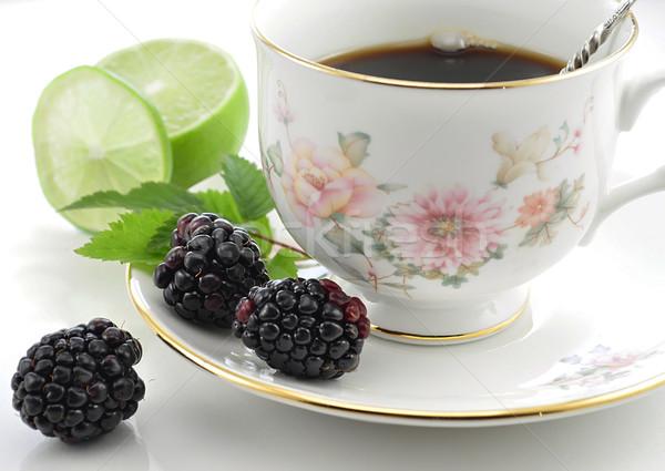 Tea szeder citrom egészség zöld ital Stock fotó © saddako2