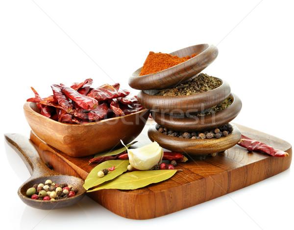 Stockfoto: Specerijen · oranje · Rood · koken · Geel