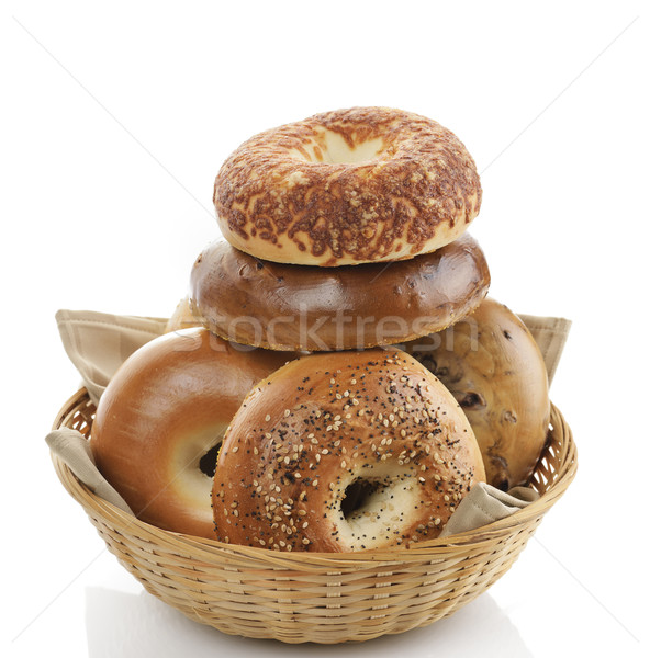 Bagels  On White Background Stock photo © saddako2