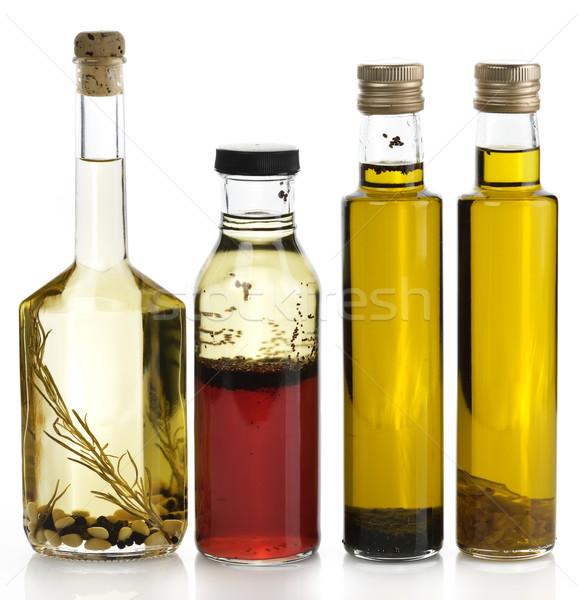 étolaj válogatás fűszer étel üveg piros Stock fotó © saddako2