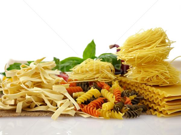 Pâtes assortiment italien coup blanche Photo stock © saddako2