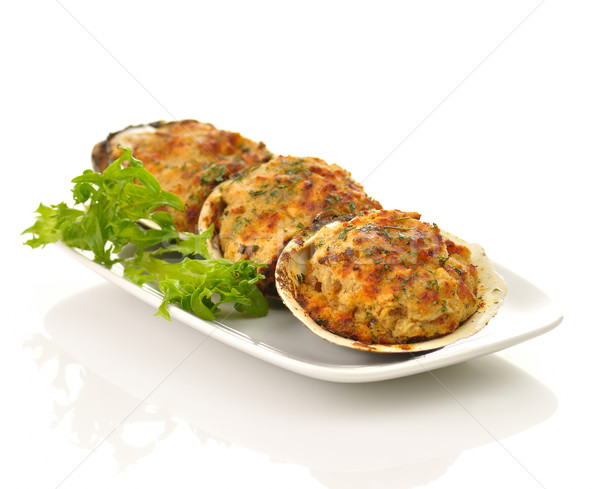 Bourré alimentaire restaurant blanche repas fruits de mer Photo stock © saddako2