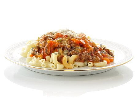 macaroni with sauce and vegetables  Stock photo © saddako2