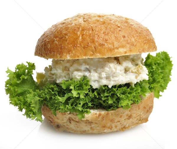 チキンサラダ サンドイッチ 白 食品 パン ランチ ストックフォト © saddako2
