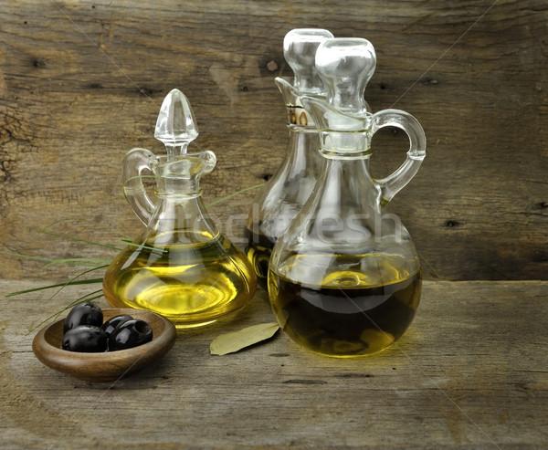 étolaj ecet zöldség olívaolaj balzsamecet étel Stock fotó © saddako2