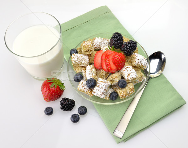 healthy breakfast,Shredded Wheat Cereal Stock photo © saddako2