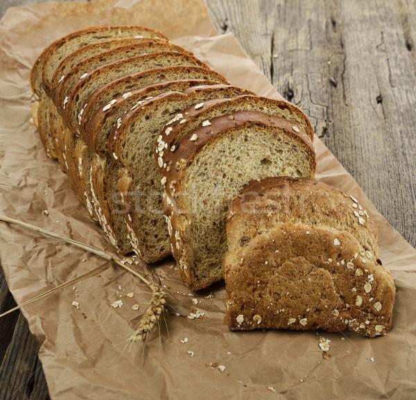 Sliced Brown Wholewheat Bread Stock photo © saddako2