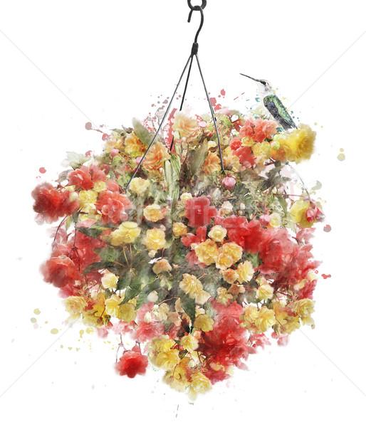 акварель изображение цветы цифровой Живопись подвесной Сток-фото © saddako2