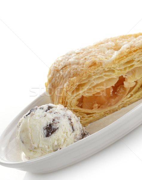 Ice Cream And Apple Strudel Stock photo © saddako2
