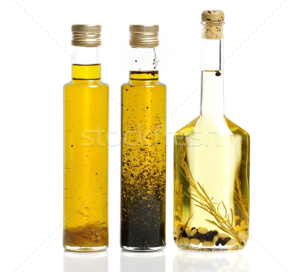 étolaj üvegek fehér üveg olívaolaj hozzávaló Stock fotó © saddako2