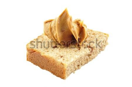 Fıstık ezmesi sandviç ev yapımı ekmek beyaz bal Stok fotoğraf © saddako2