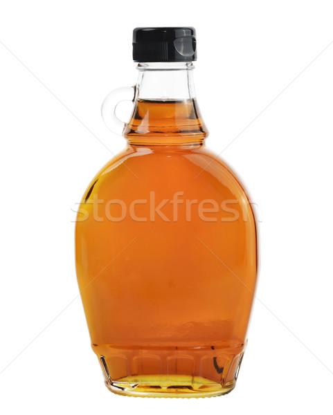 клен сироп изолированный белый бутылку природного Сток-фото © saddako2
