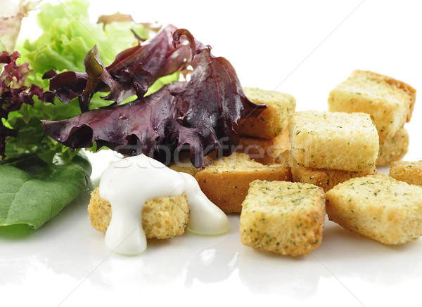 croutons and salad leaves  Stock photo © saddako2