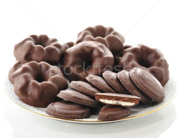 Fudge Chocolate Cookies Stock photo © saddako2