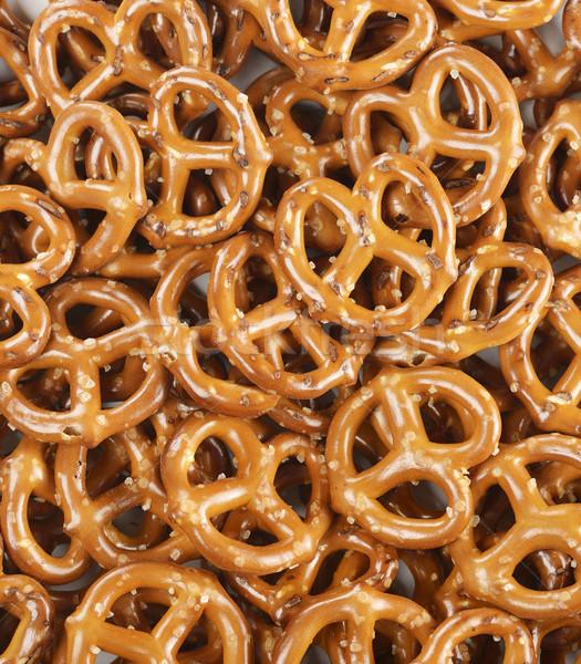 Tuzlu kraker gıda makro kahverengi Stok fotoğraf © saddako2