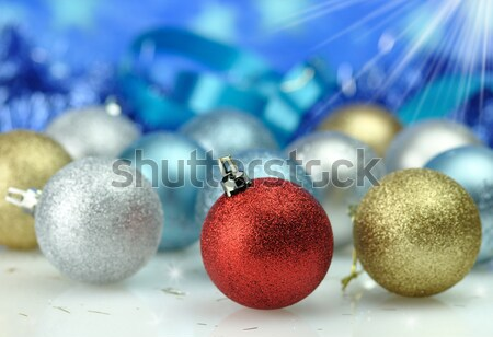 Natale decorazione luce neve sfondo palla Foto d'archivio © saddako2
