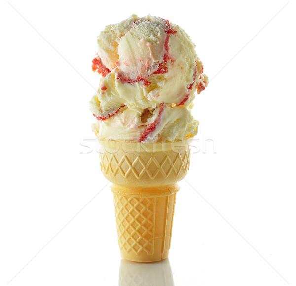 Crème glacée glace lait cool icecream froid Photo stock © saddako2