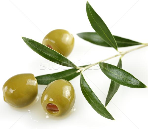 Foto stock: Verde · azeitonas · oliveira · ramo · oliva