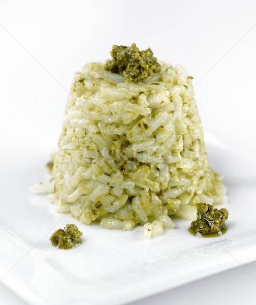 Risotto pesto saus voedsel groene Stockfoto © saddako2