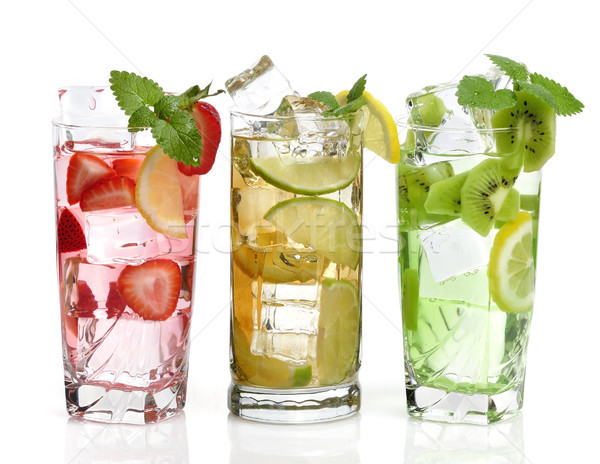 cold Drinks With Fruits Stock photo © saddako2