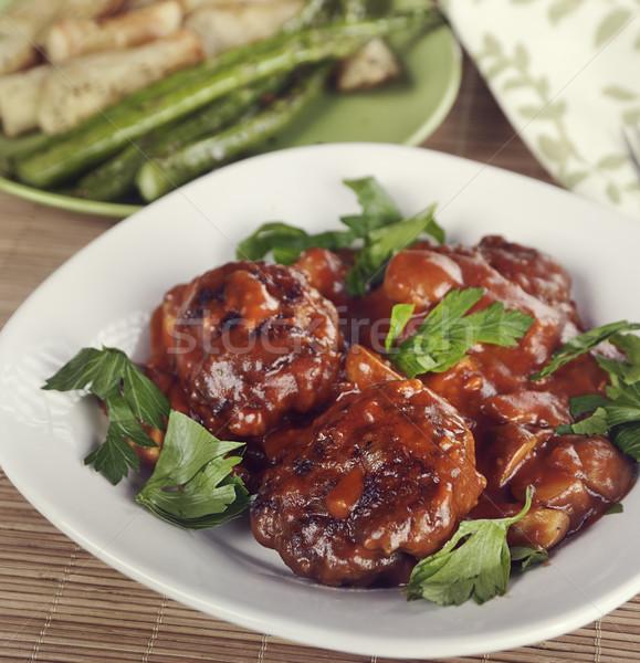 Salisbury Steak Patties Stock photo © saddako2