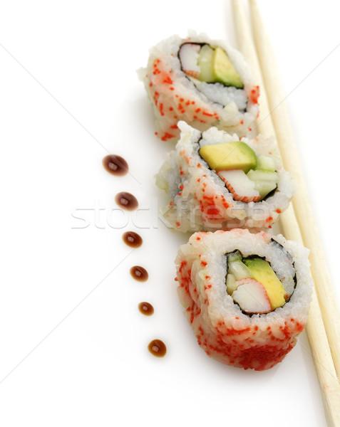 Stok fotoğraf: Sushi · beyaz · gıda · deniz · ürünleri