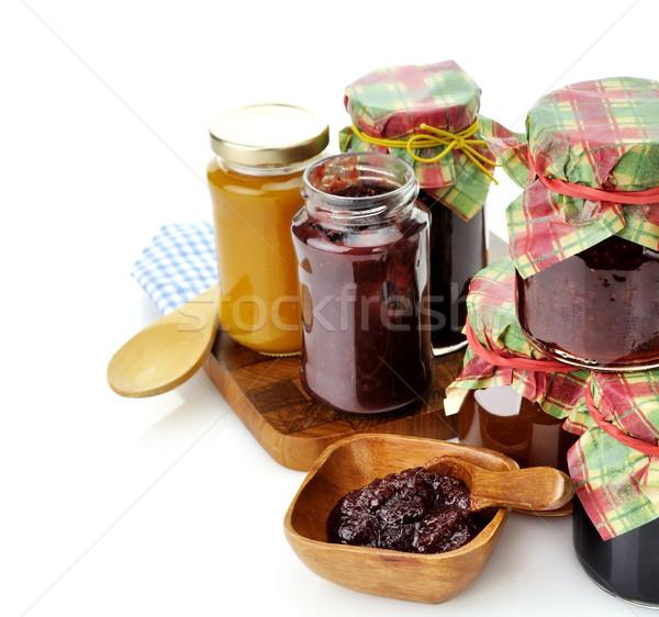 Jam In The Glass Jars  Stock photo © saddako2