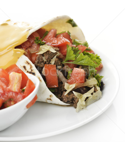 Burrito With Beef And Vegetables  Stock photo © saddako2