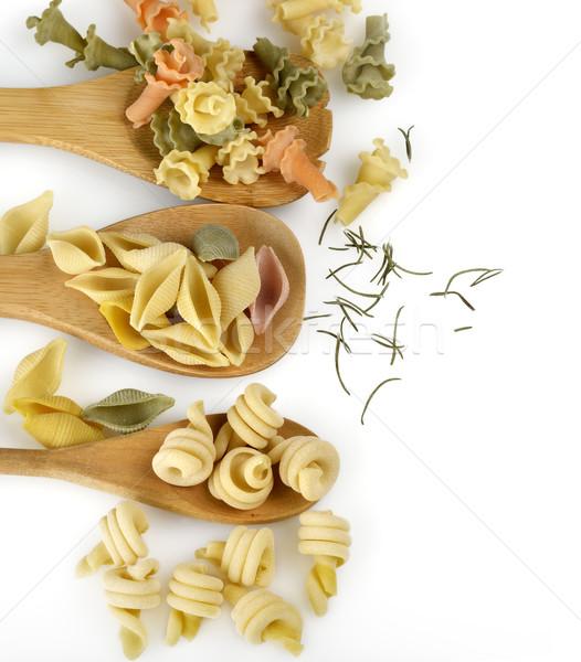 Tészta válogatás olasz gurmé kanál kagylók Stock fotó © saddako2