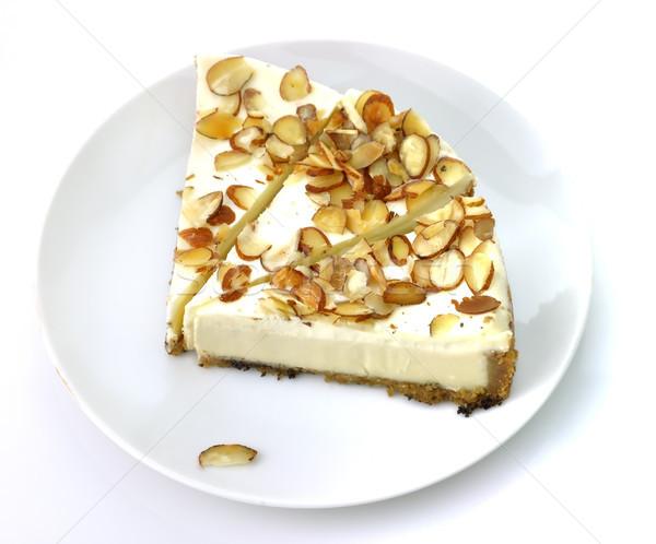 Foto d'archivio: Bianco · cioccolato · cheesecake · fette · alimentare · piatto