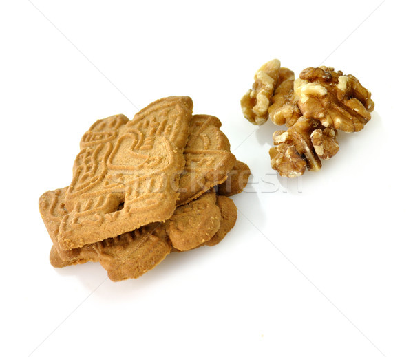 spiced cookies with walnuts Stock photo © saddako2